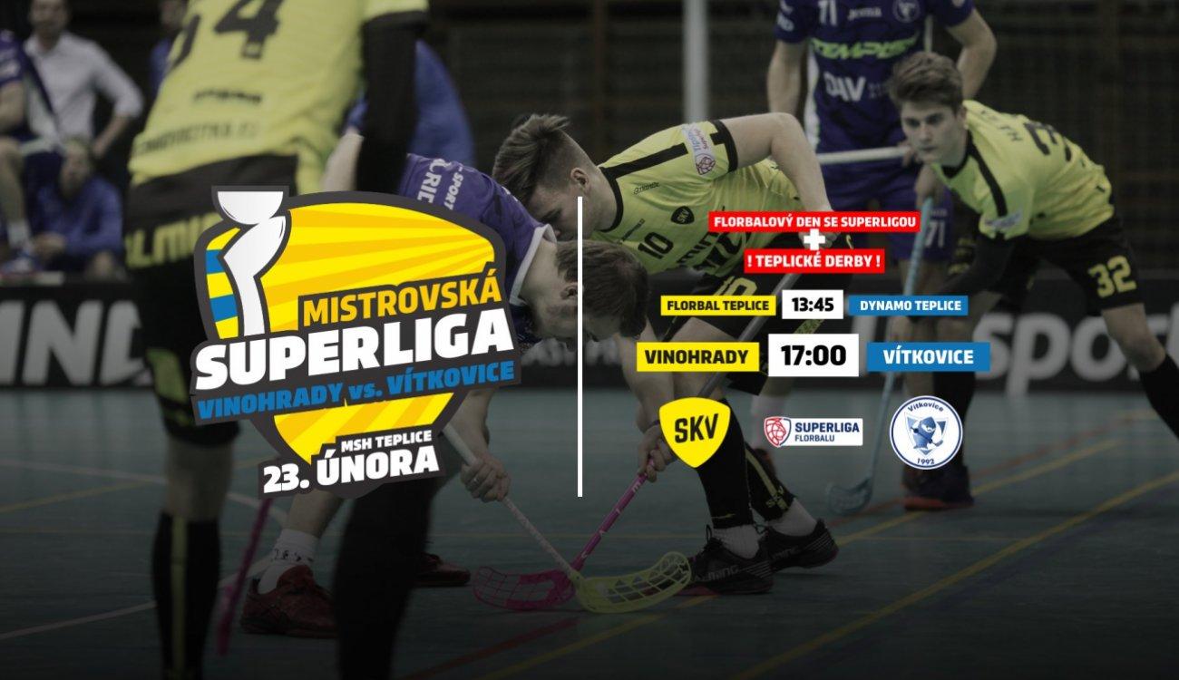 Superliga v Teplicích: SKV vs. Vítkovice a Teplické derby
